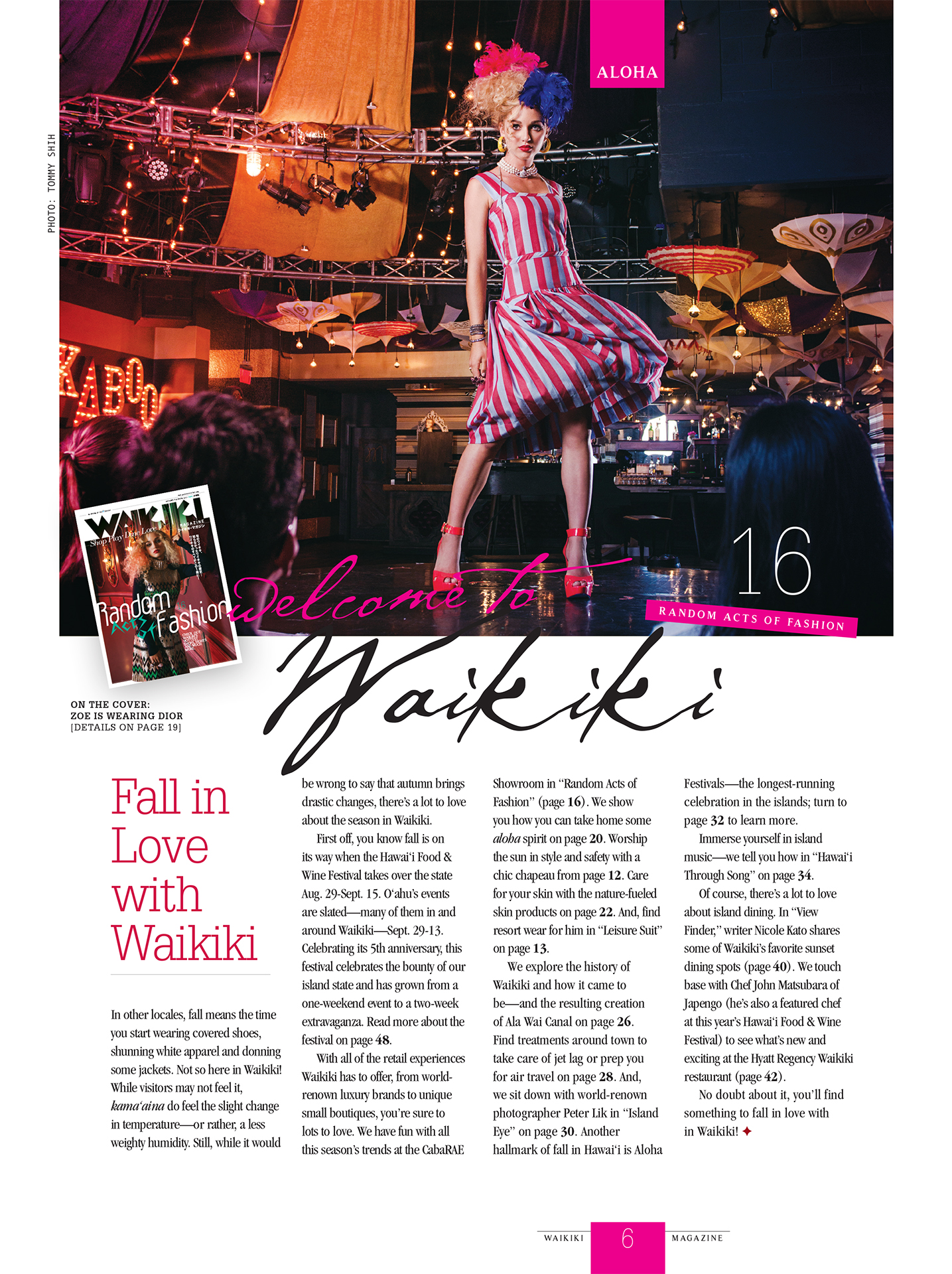 Editor's note page featuring image from Look 3